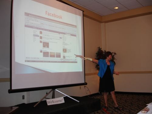Kathy presenting at High Velocity Women Summit