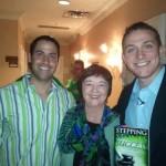 Kathy with Nick and Omar