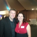 Rachel Haviland with CEO of ToBizNet