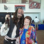 Kathy Perry with Pirate at Tampa Bay Business Journal