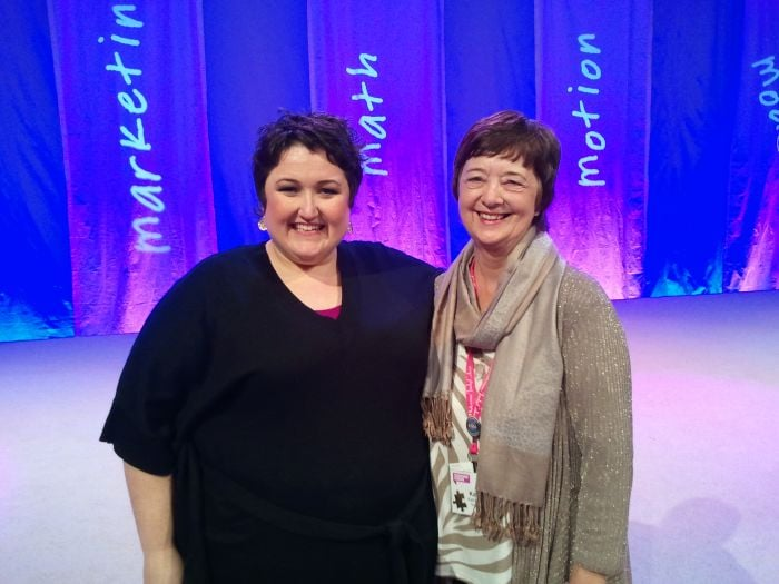 Kathy Perry with Suzanne Evans