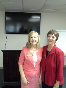 Gretchen Cain Wells with Kathy Perry