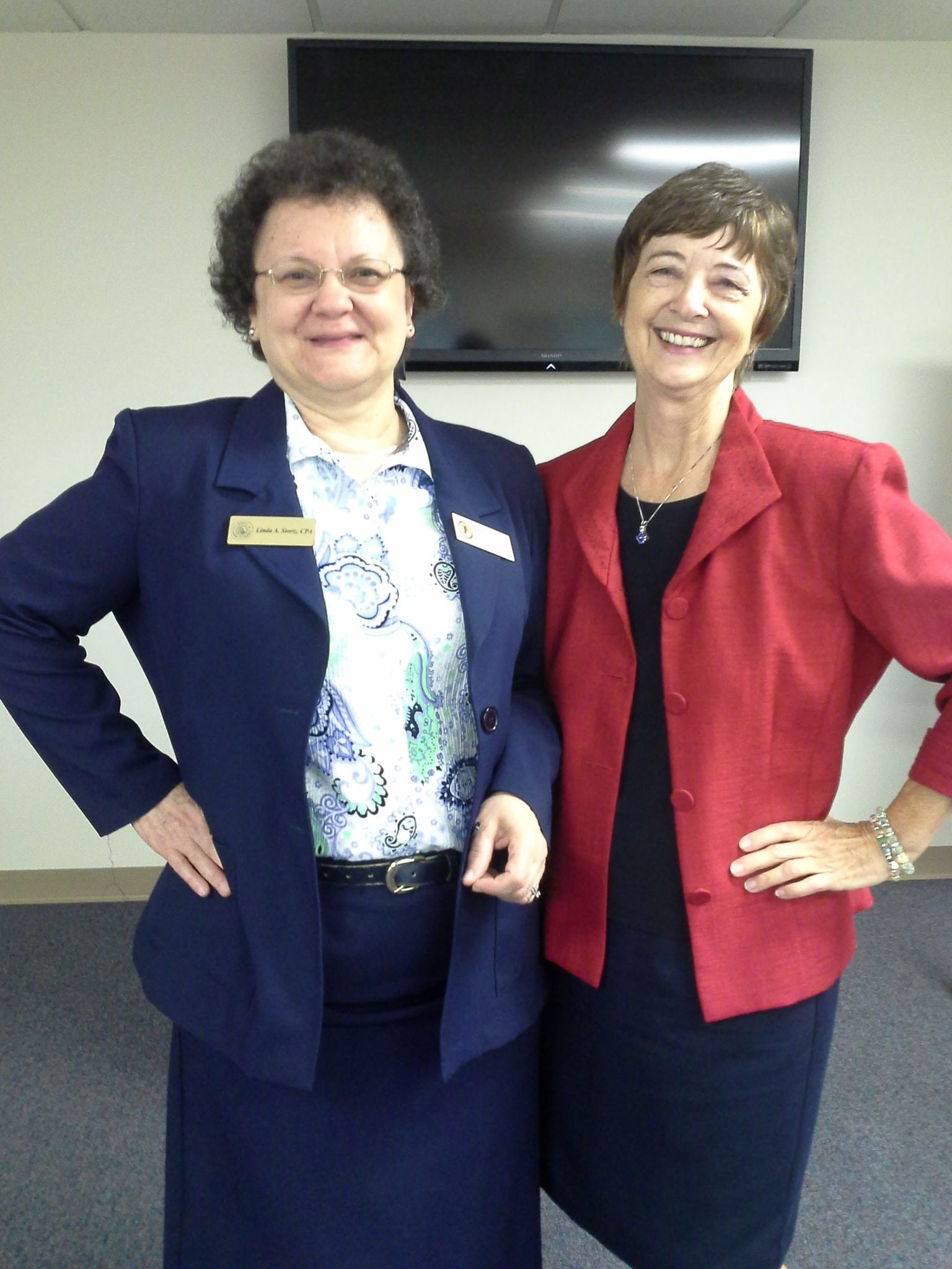 Linda Stortz CPA with Kathy Perry